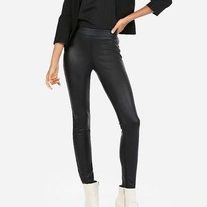 Black faux leather leggings Sz L